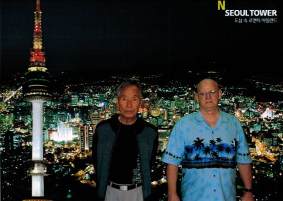 Grandmaster Stan Swope poses with Supreme Master Kim Bok-Man in Seoul, 2016