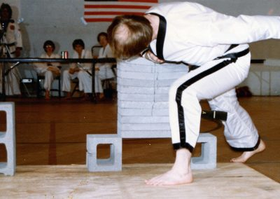 Grandmaster Stan Swope breaks with his forearm