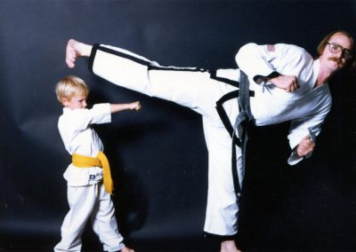 Grandmaster Stan Swope poses with his son, Jeramie Swope