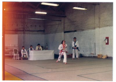 Grandmaster Stan Swope testing for black belt circa 1983