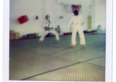 Polaroid of Belt Test of Grandmaster Stan Swope's Students in Mulvane, Kansas, Circa 1983