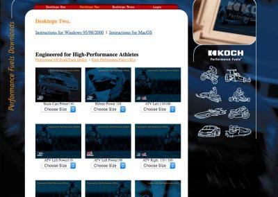 Koch Performance Racing Fuels Web Site Screenshot Wallpapers