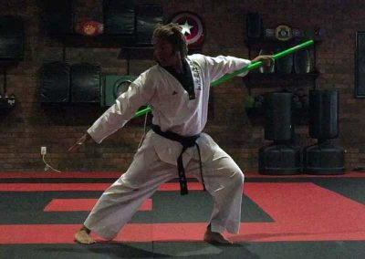 Nathan performs Pole Pattern 4, created by Supreme Master Kim Bok-Man for Chun Kuhn Taekwondo.