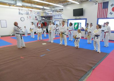 Grandmaster Stan Swope teaches colored belt breaking seminar at Black Eagle Martial Arts