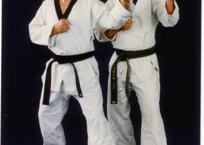 Grandmaster Stan Swope and his brother, Master Mike Swope, circa 1992