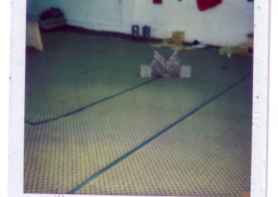 Pile of bricks broken by Grandmaster Stan Swope circa 1983