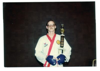 Grandmaster Stan Swope with Coveted 2nd Place Trophy Circa 1983