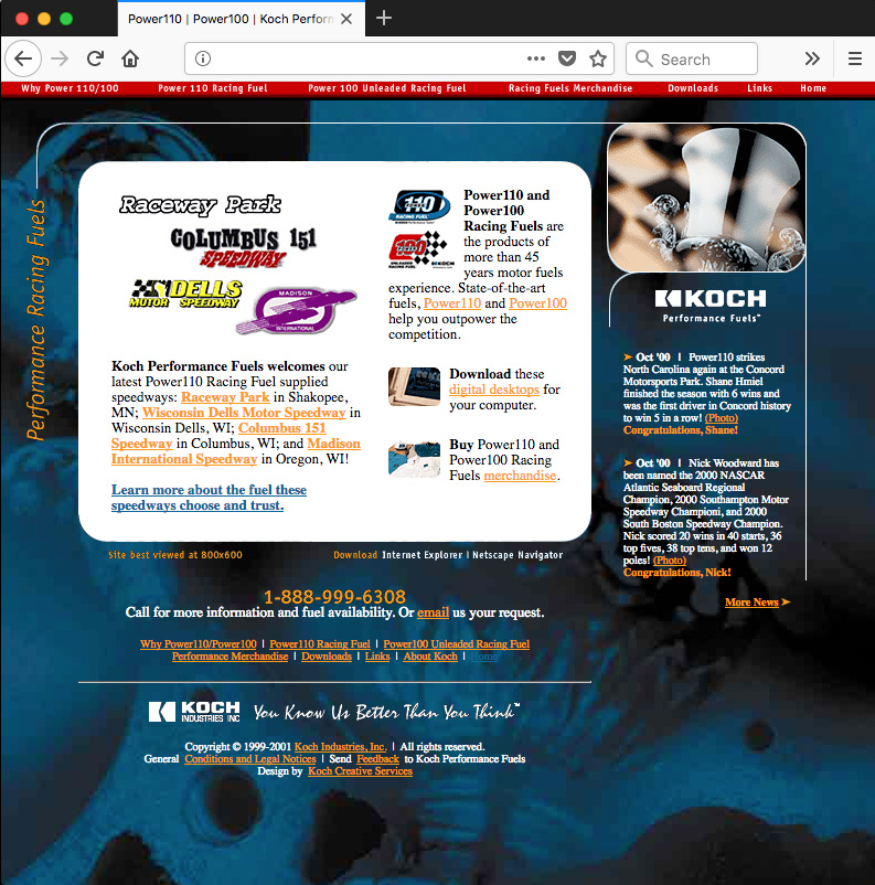Web site designed by Mike Swope which appeared in MacDesign (now Layers) magazine and the book GoLive 5 f/x & Design by Richard Schrand
