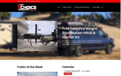 1st Choice Trailers Web Site Redesign