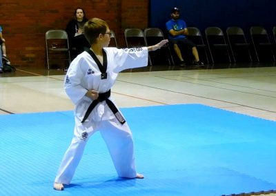Stephen Swope performs Koryo poomsae during his 1st Dan testing (Chun Kuhn Taekwondo)