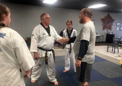 Master Swope teaches live hand wrist escape to Charles Cooper